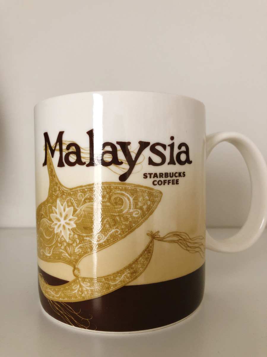 "My home country! Multi-ethnic and multi-racial country. The display on the mug is a traditional Malaysian kite called ""Wau Bulan."""