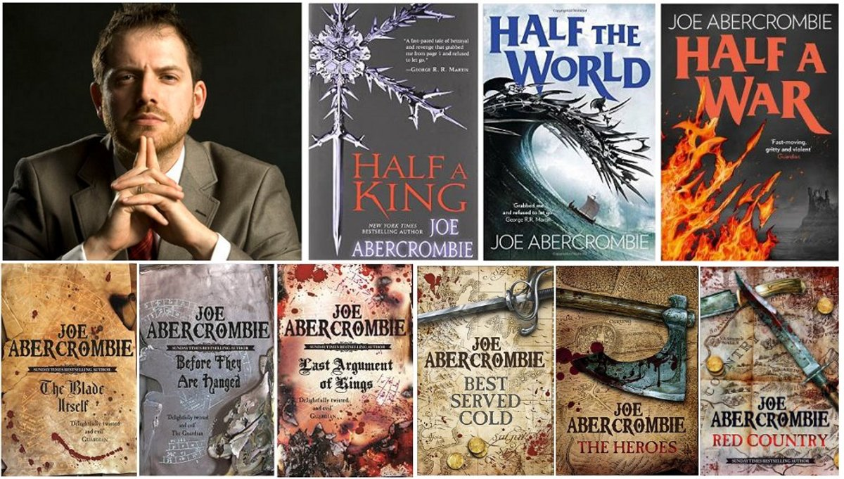 Joe Abercrombie and his books.