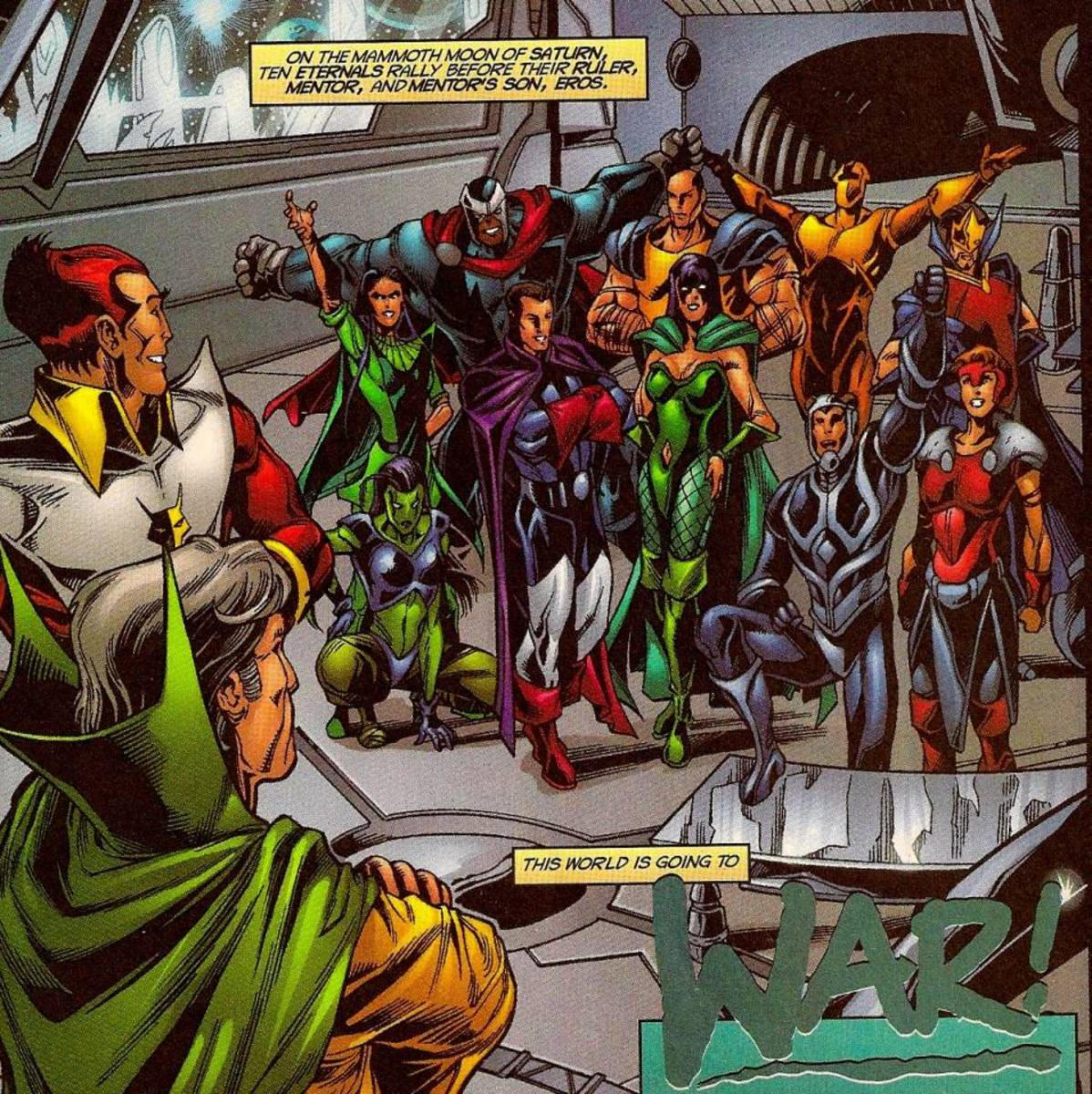 Mentor, Starfox (Eros) and many of the Titanian Eternals.