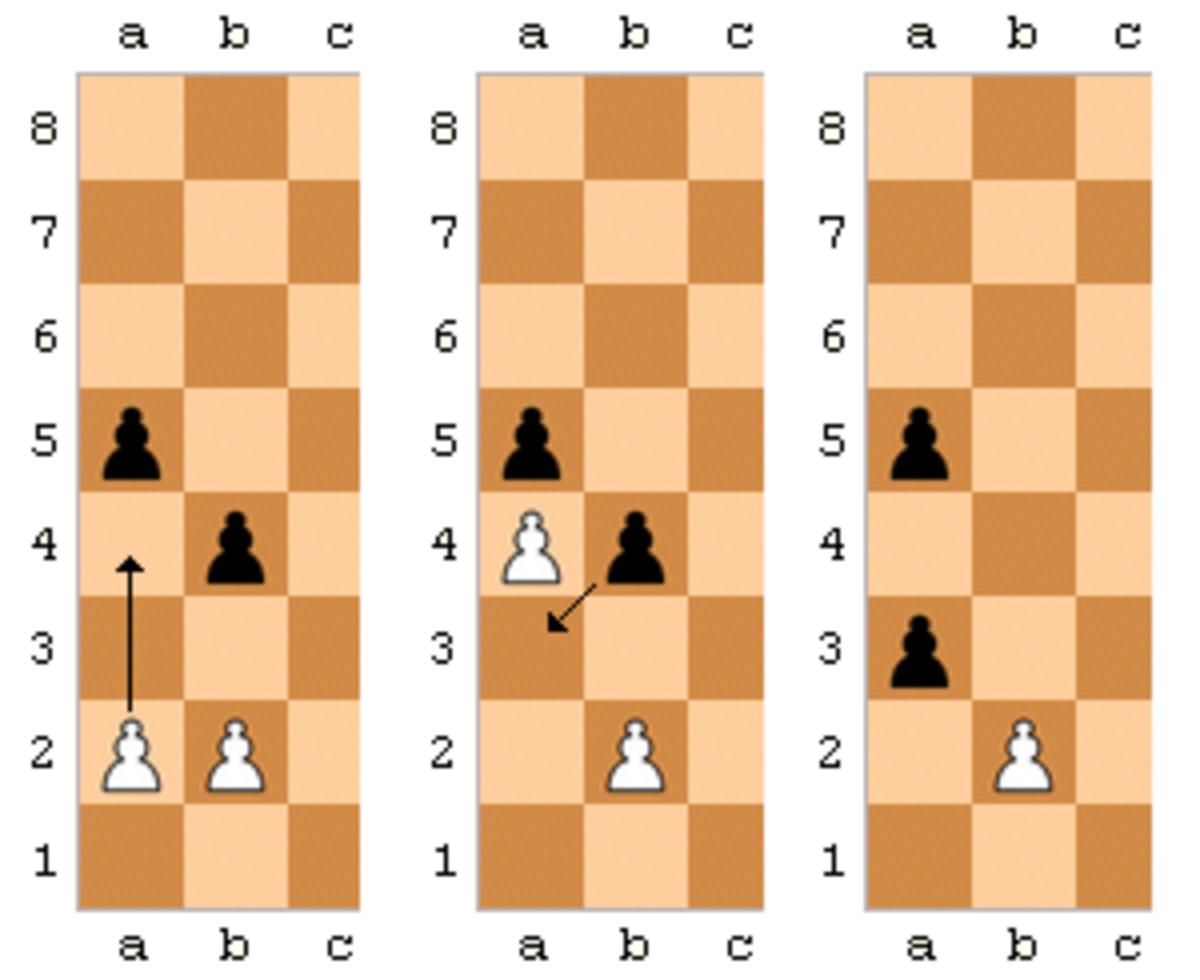 Black Pawn uses En passant