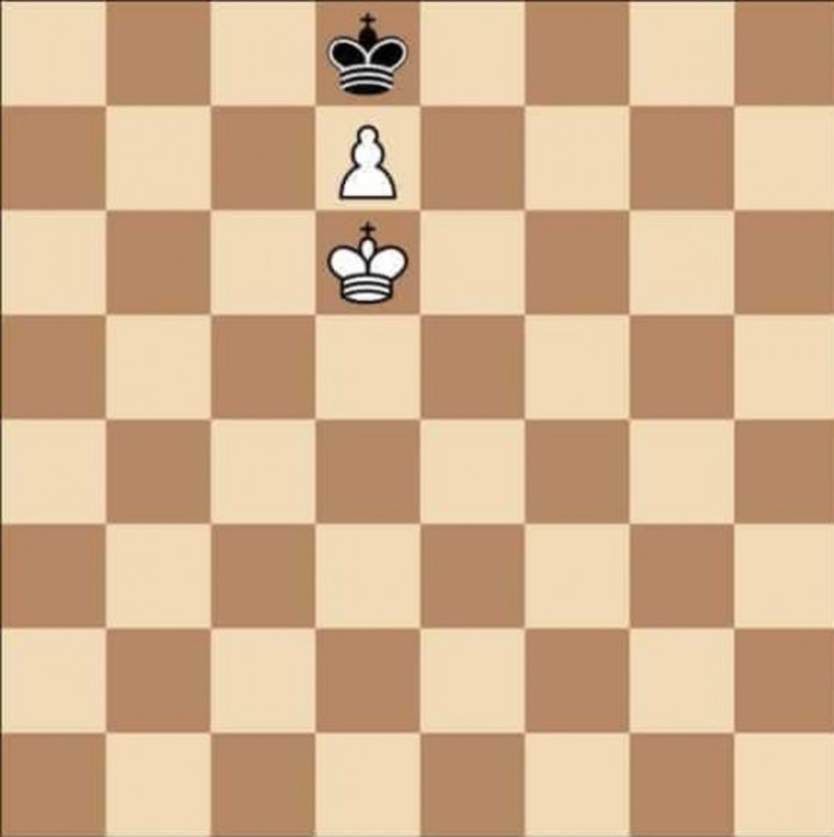 Chess stalemate (black King can't move)