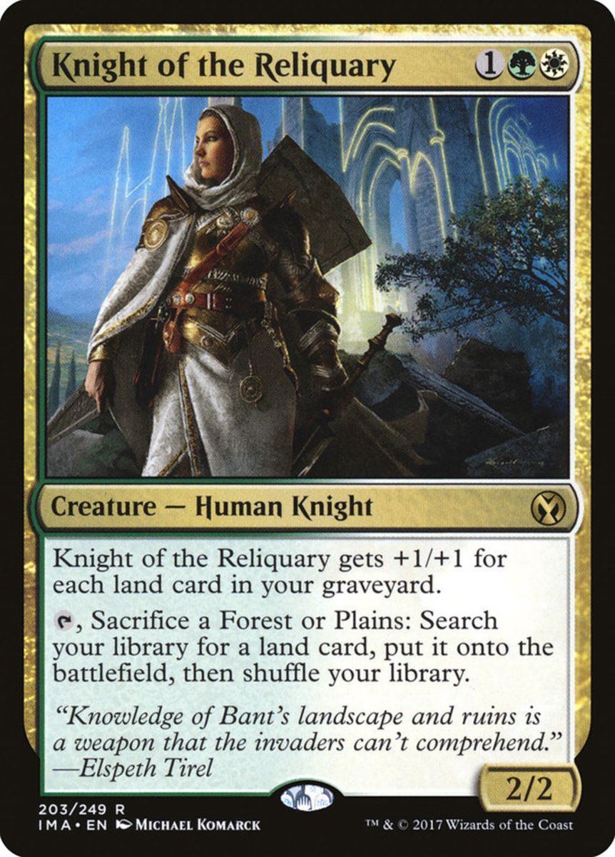 Knight of the Reliquary mtg