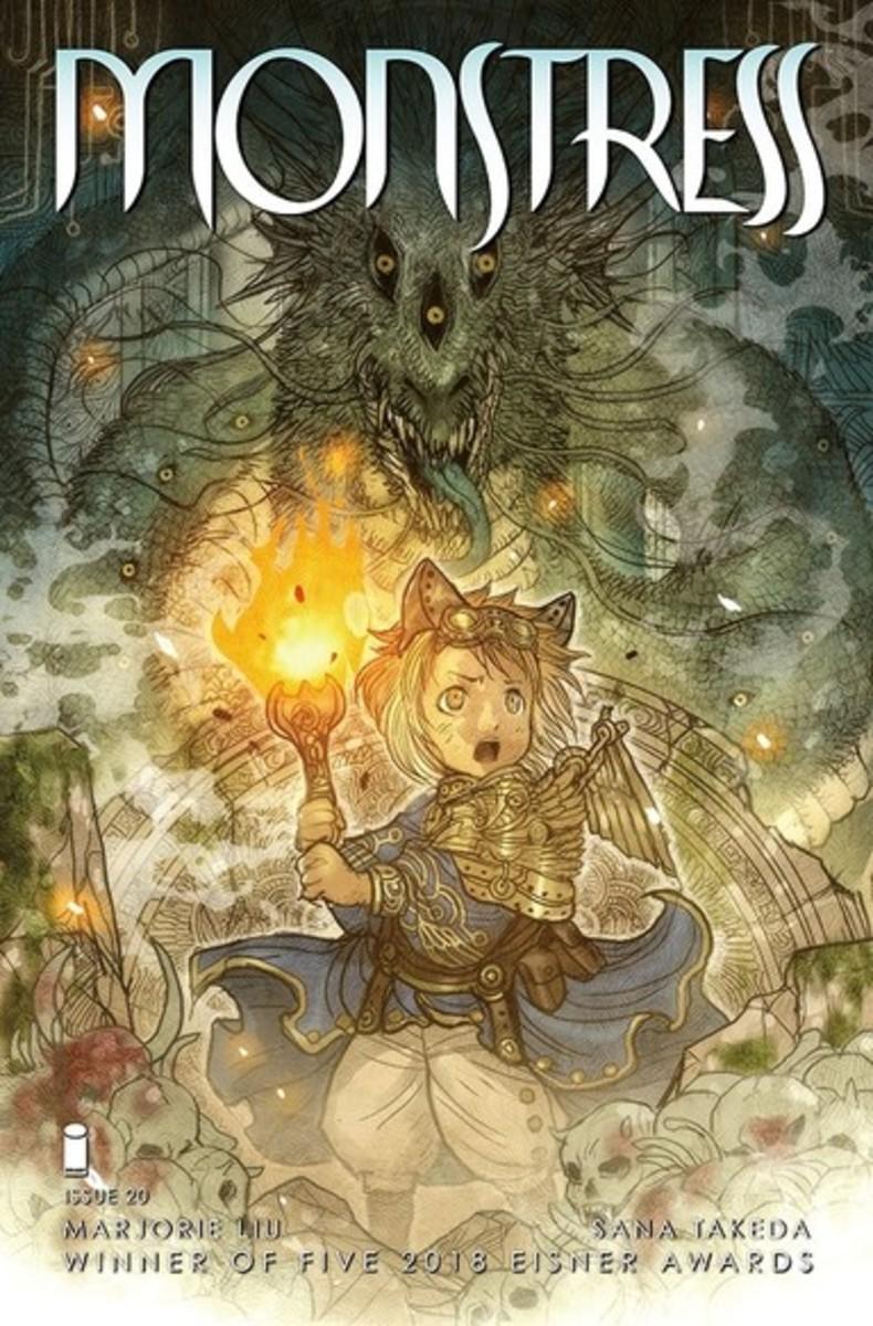 Cover Art of Monstress, Issue 20, Art by Sana Takeda.