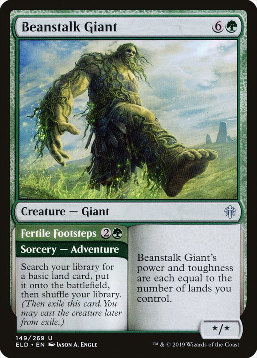 Beanstalk Giant/Fertile Footsteps mtg