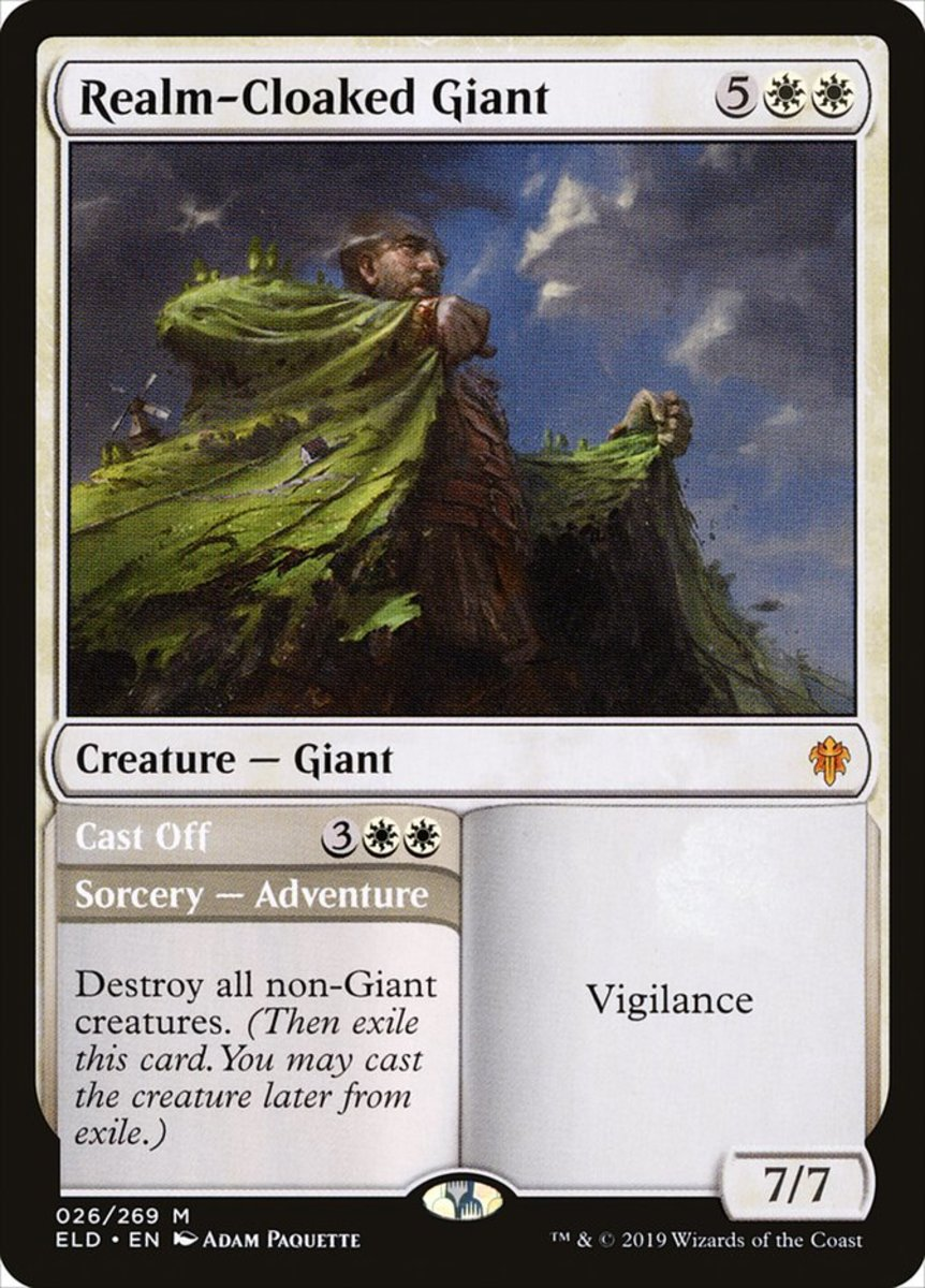 Realm-Cloaked Giant/Cast Off mtg