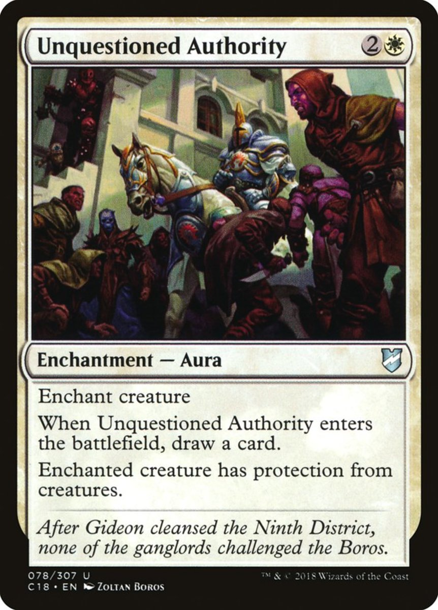 Unquestioned Authority mtg