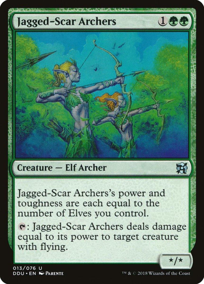 Jagged-Scar Archers mtg