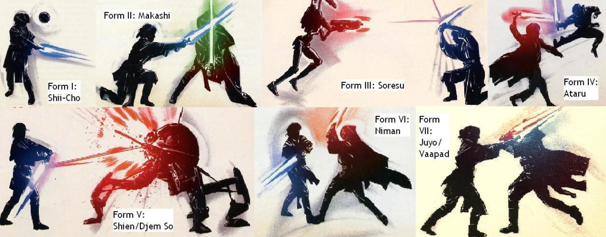 Lightsaber forms in Star Wars