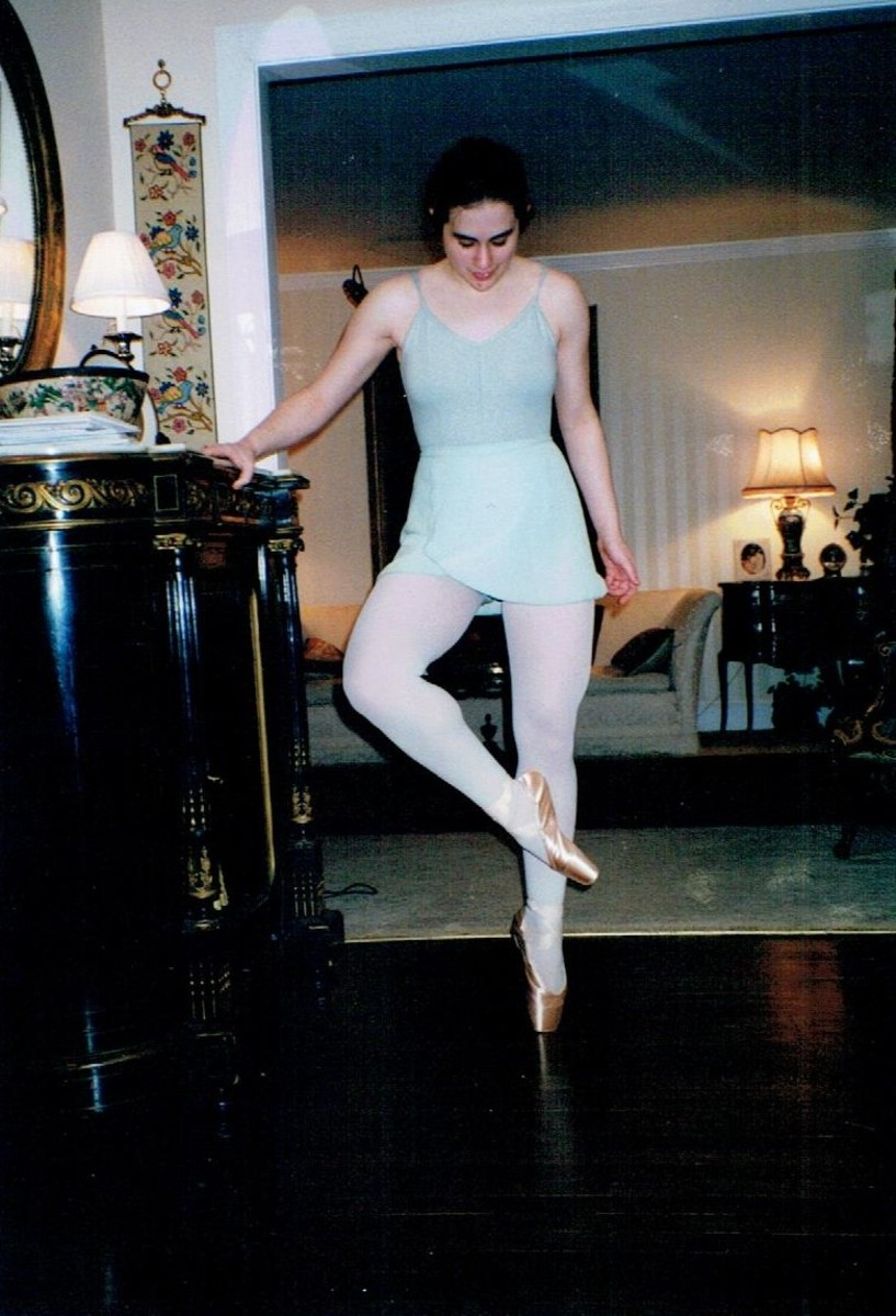Photo taken after my very first pointe lesson. My first pair of pointe shoes was more exciting than my drivers' license (yes, really).