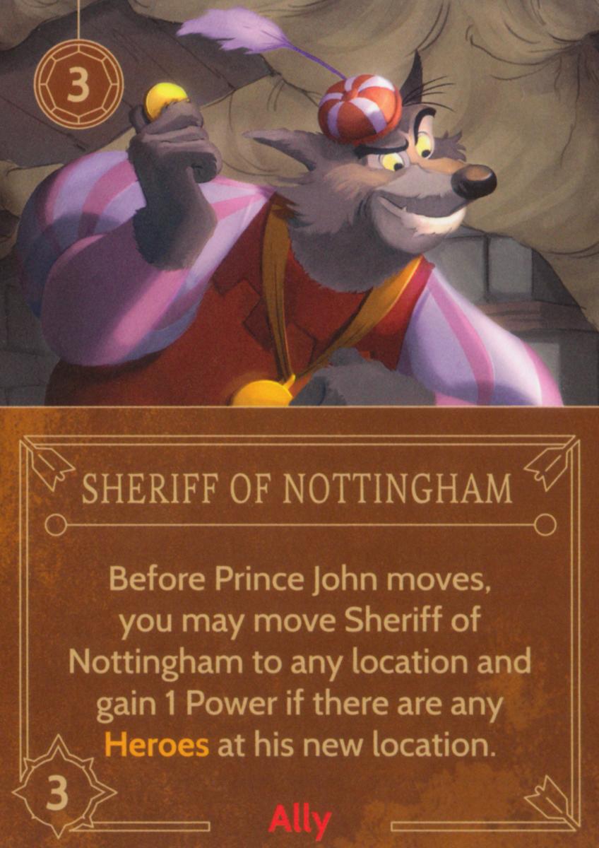 Sheriff of Nottingham ally card