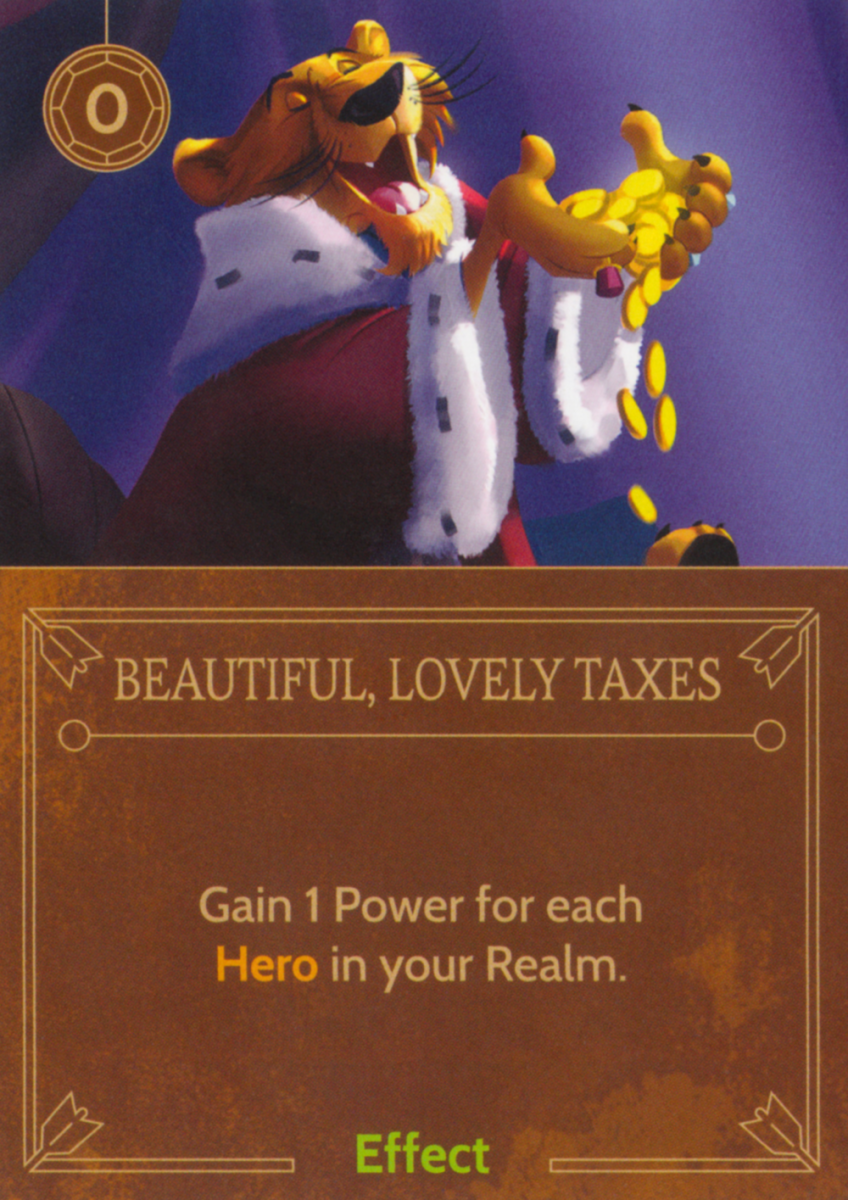 Beautiful, Lovely Taxes effect card