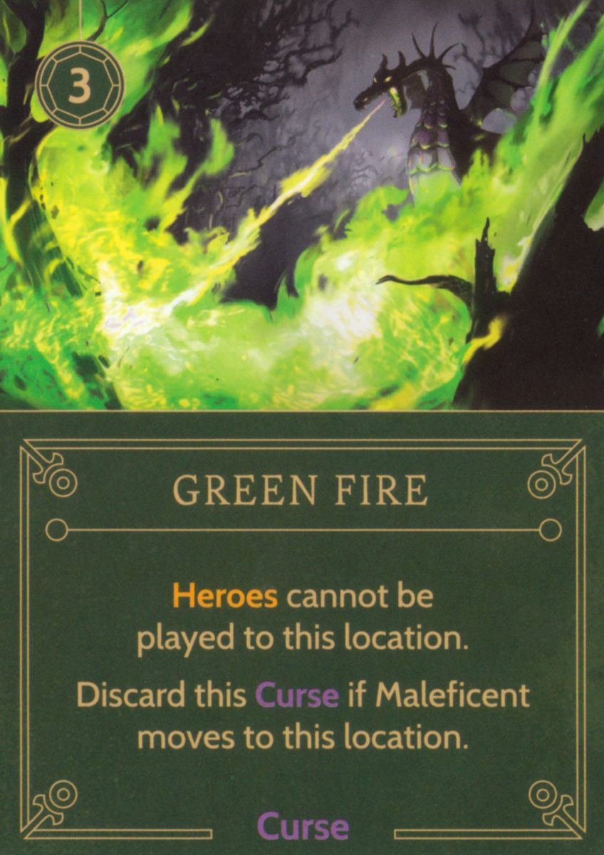 Green Fire curse card