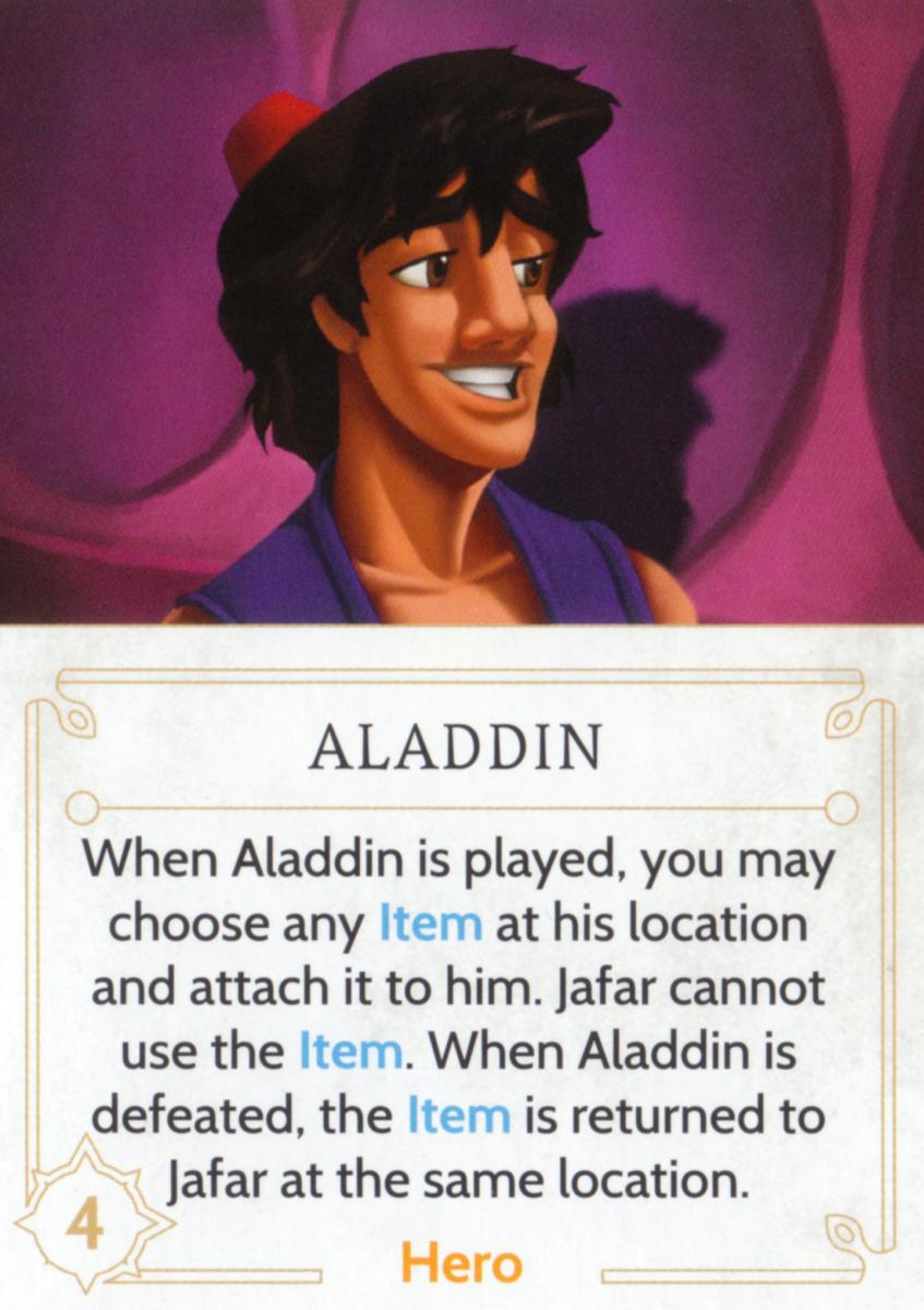 Aladdin fate card