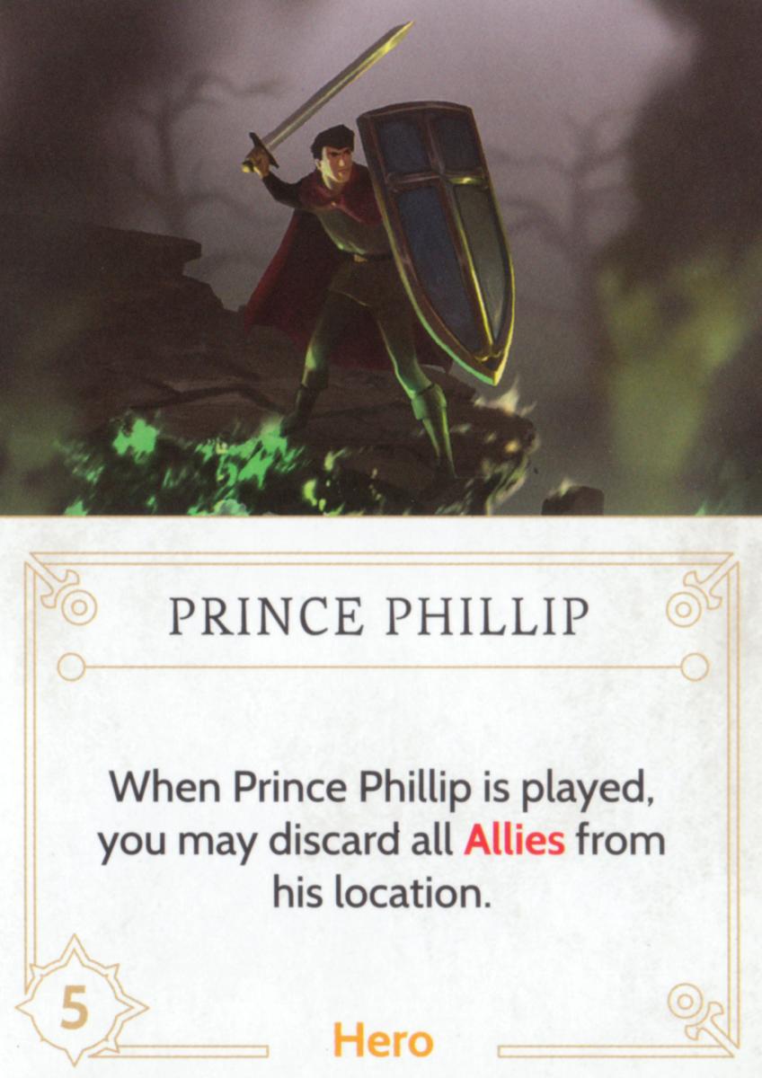 Prince Phillip fate card