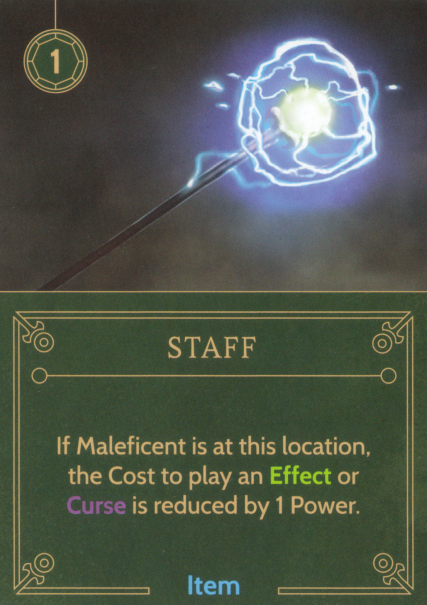 Staff item card