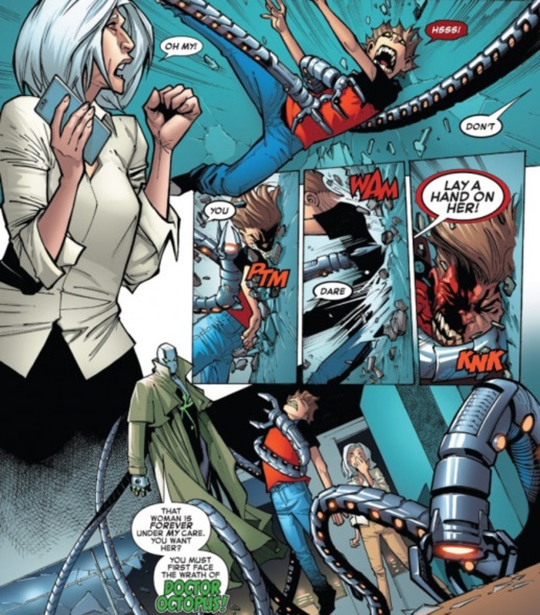 Doc Ock saves Aunt May