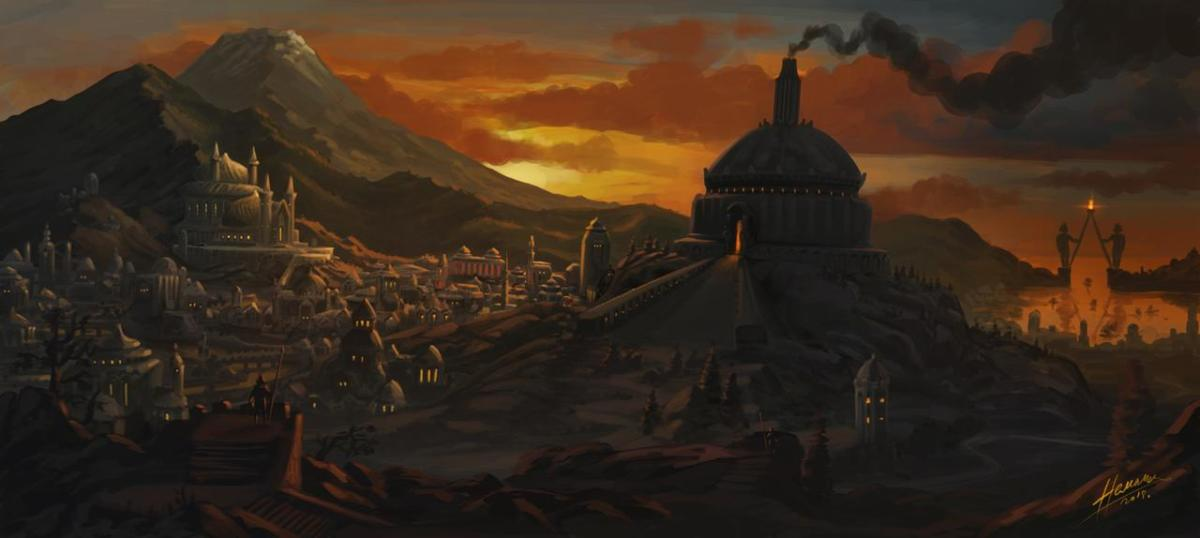 Armenelos by skullbastard. Sauron's corruption of Numenor did not cause it, but hastened it.