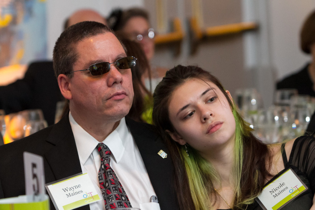 Nicole Maines and her Father