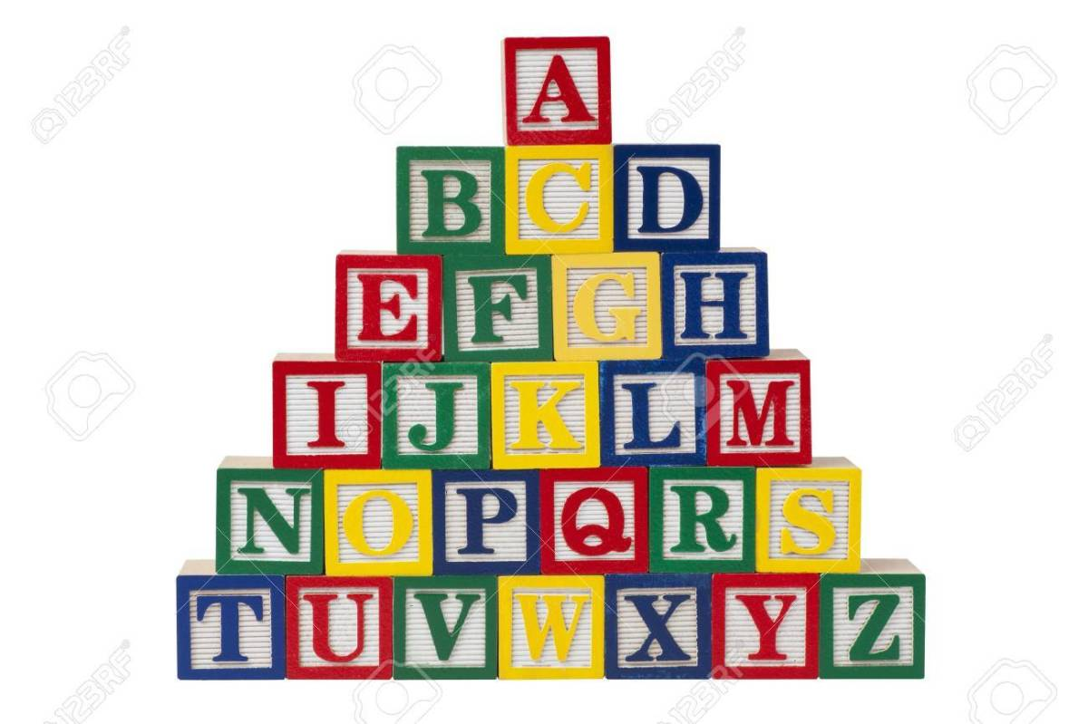 Alphabet blocks were popular Christmas gifts during the 1800s.