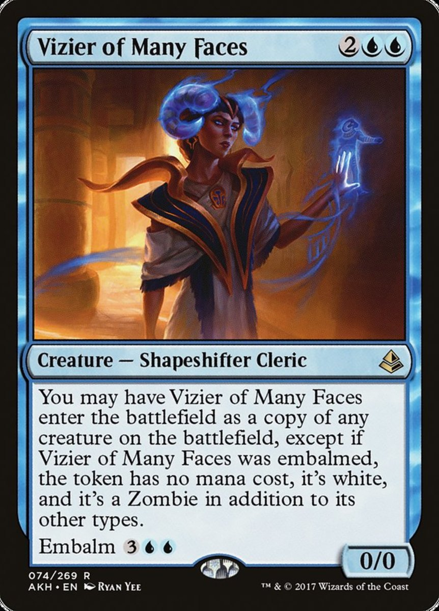 Vizier of Many Faces mtg