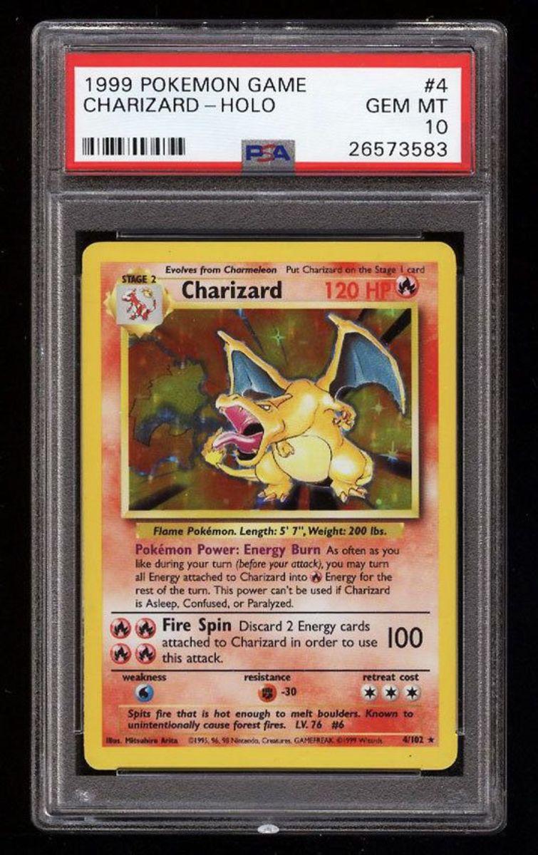 PSA 10 Base set Charizard (unlimited)