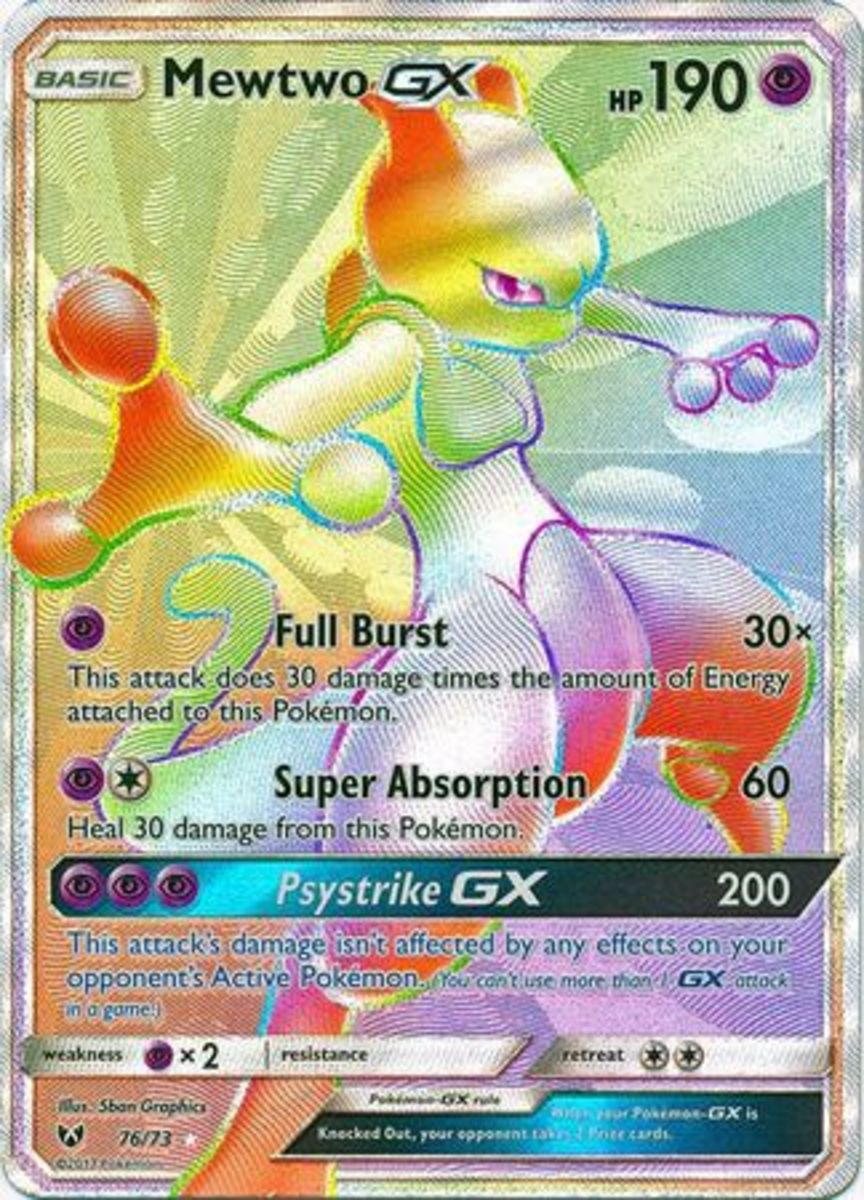 Mewtwo GX from Sun & Moon: Shining Legends
