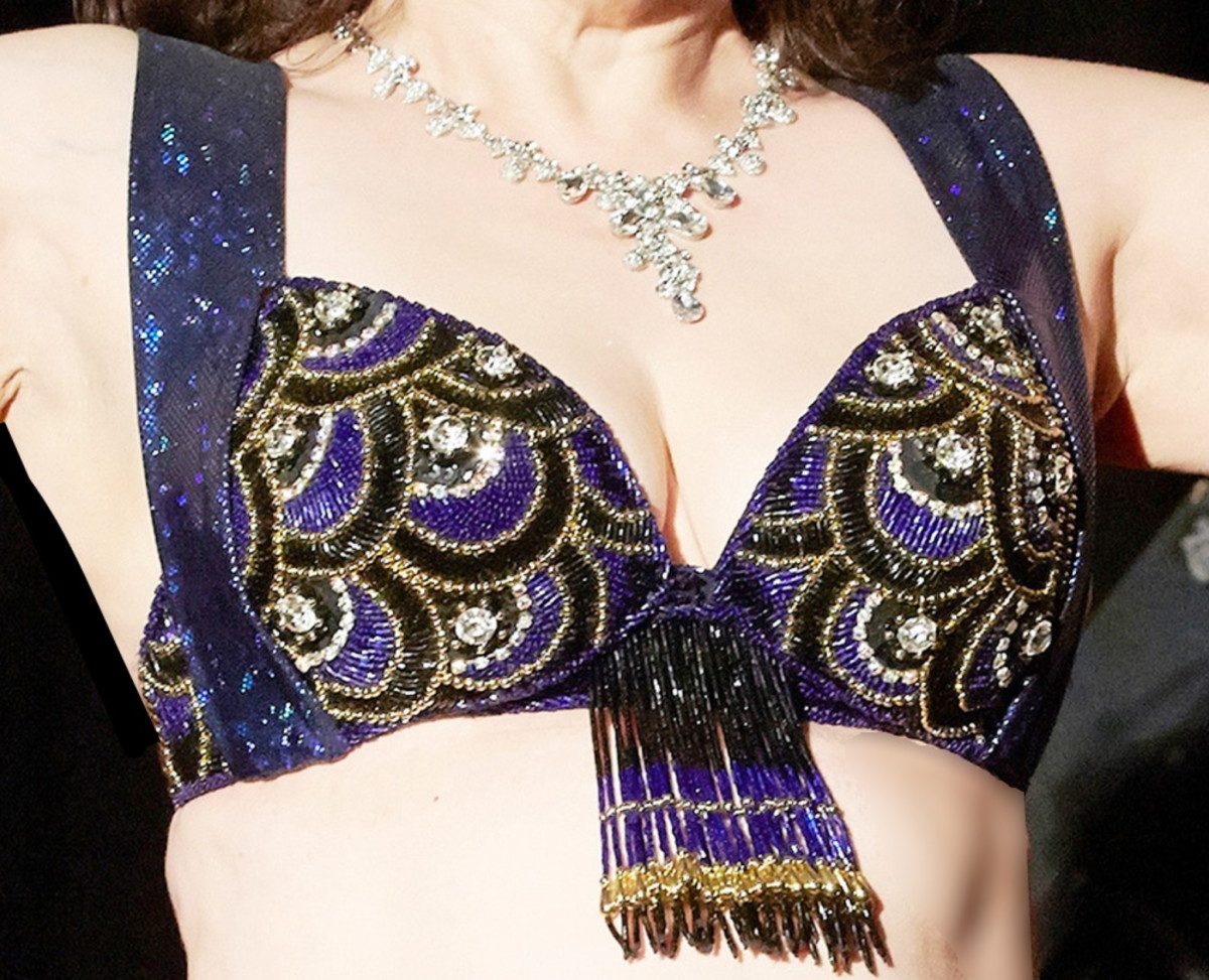 Egyptian belly dance bra adjusted with new straps
