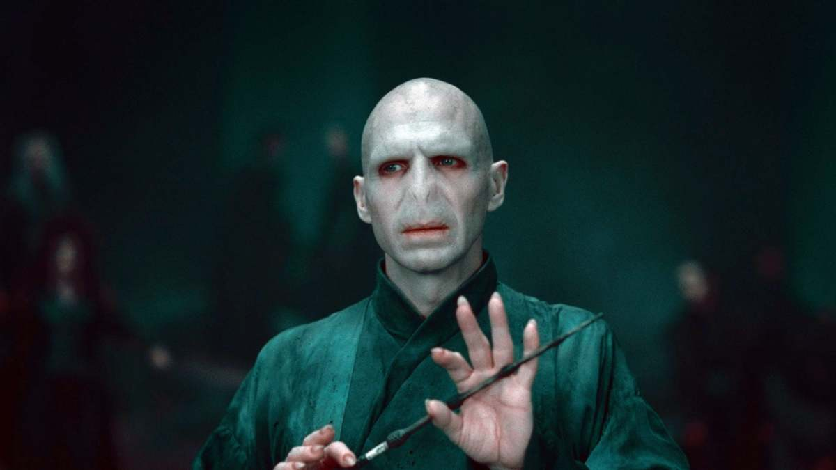 Lord Voldemort with the elder wand