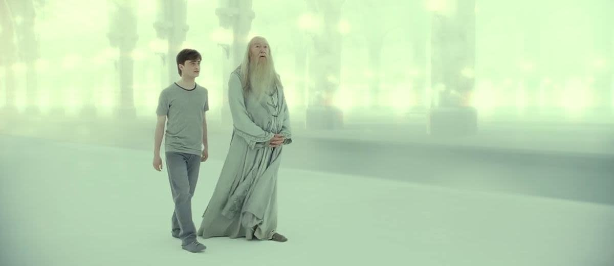 Harry and Dumbledore in purgatory