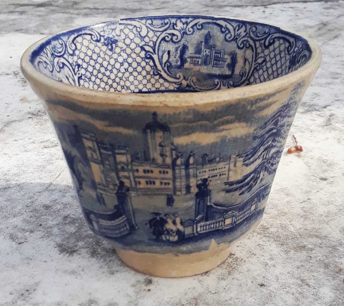 Cup with no handles - Ridgway's University Pattern circa 1840s