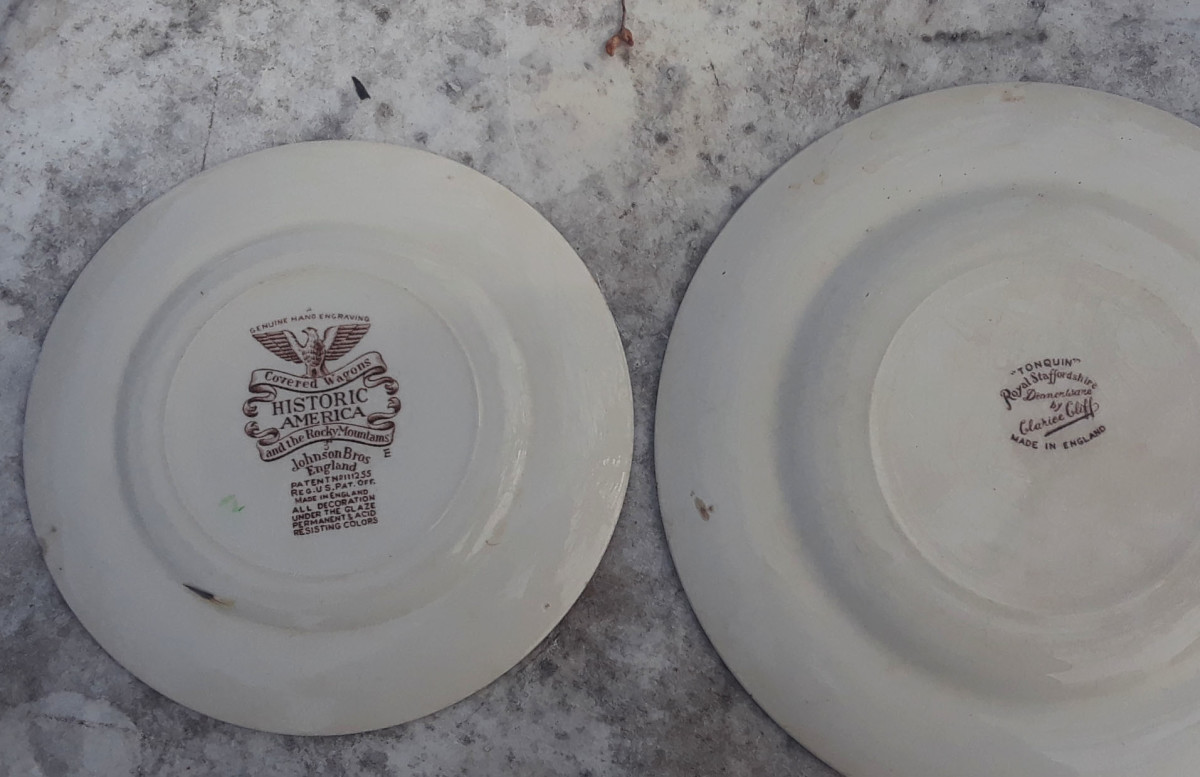 The plate on the right is older than the one on the left. Note the smaller mark on the Tonquin produced from the late 1940s into the 1950s.