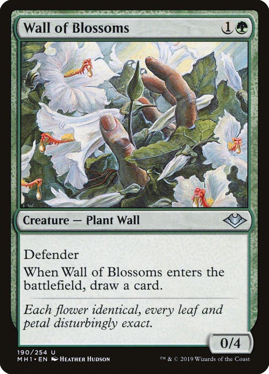 Wall of Blossoms mtg