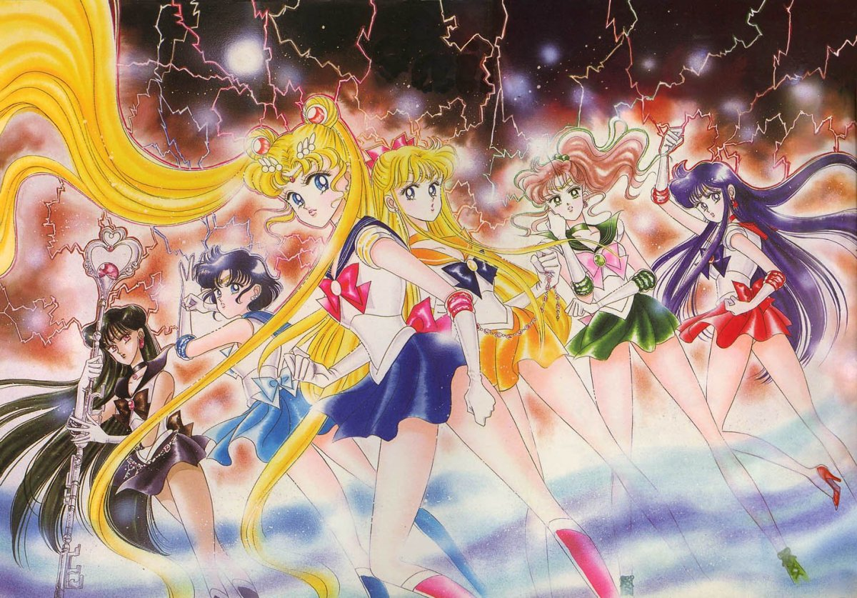 A splash page from the Sailor Moon manga.
