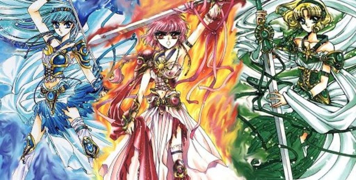 The three main characters of Magic Knight Rayearth.