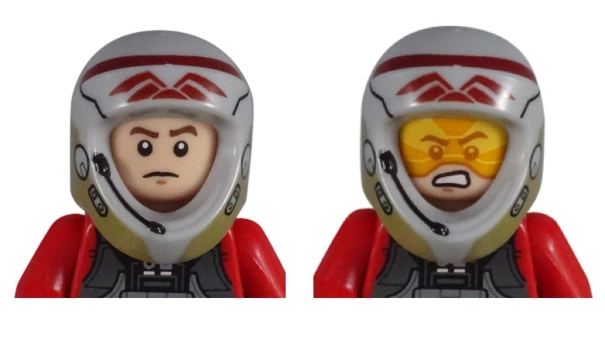 LEGO Star Wars Rebel A-Wing Pilot 5004408 Polybag Minifigure Faces
