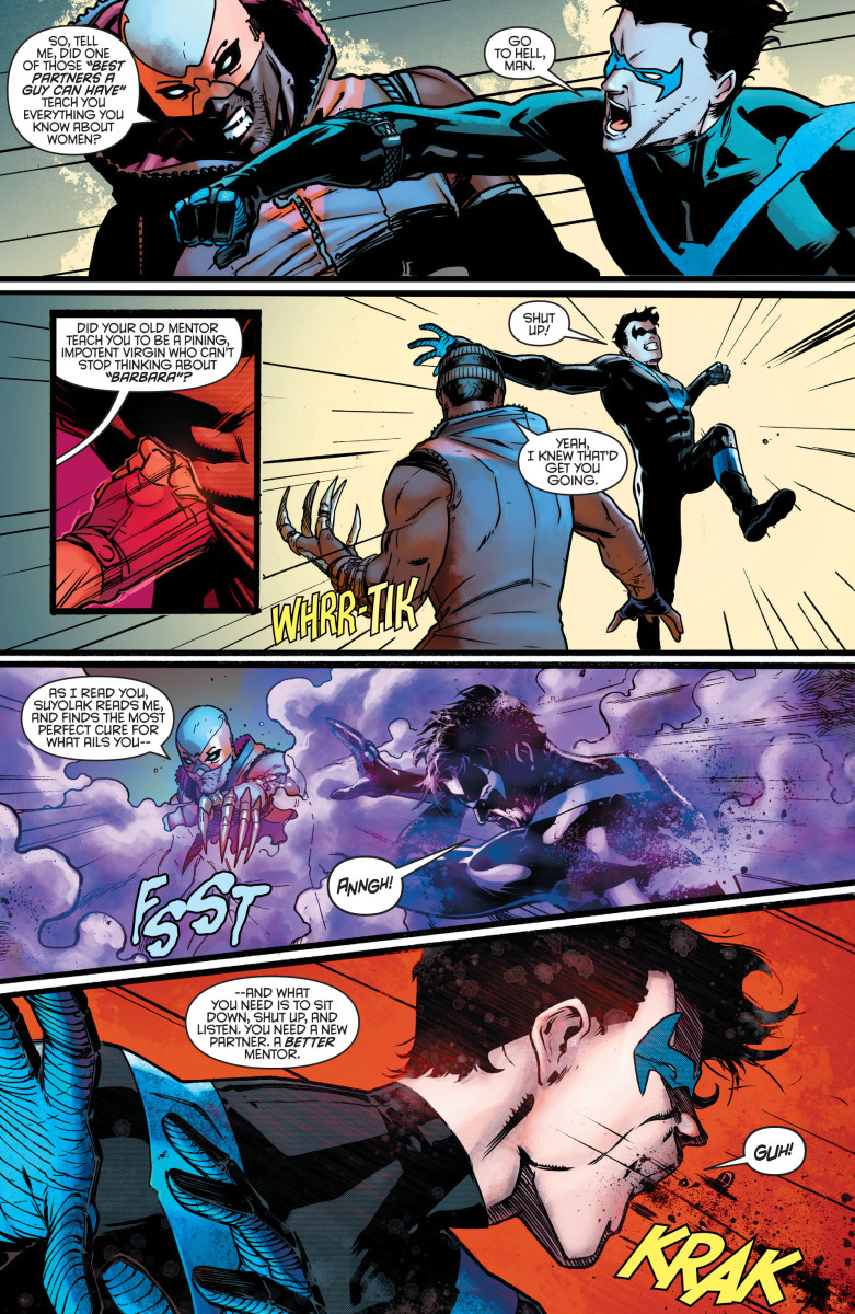 "Nightwing meets his new ""partner"" Raptor."