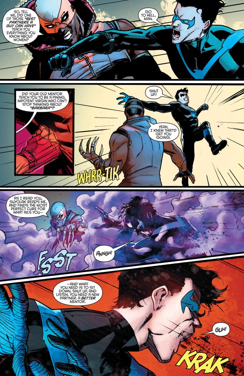 "Nightwing meets his new ""partner"" Raptor."