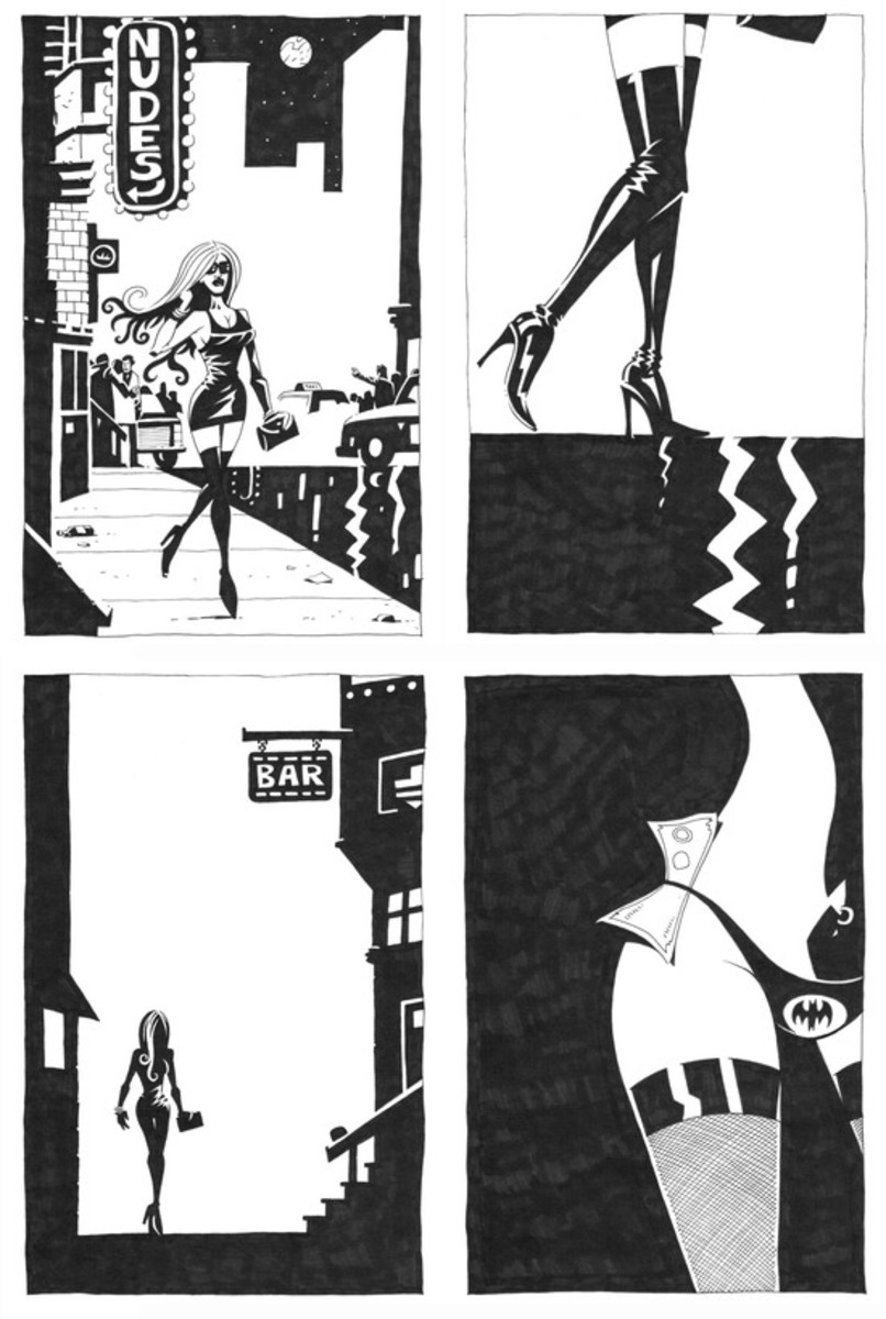 "A page from ""Shotgun to Sugarland."" (Note the Easter Egg in Panel 4.)"