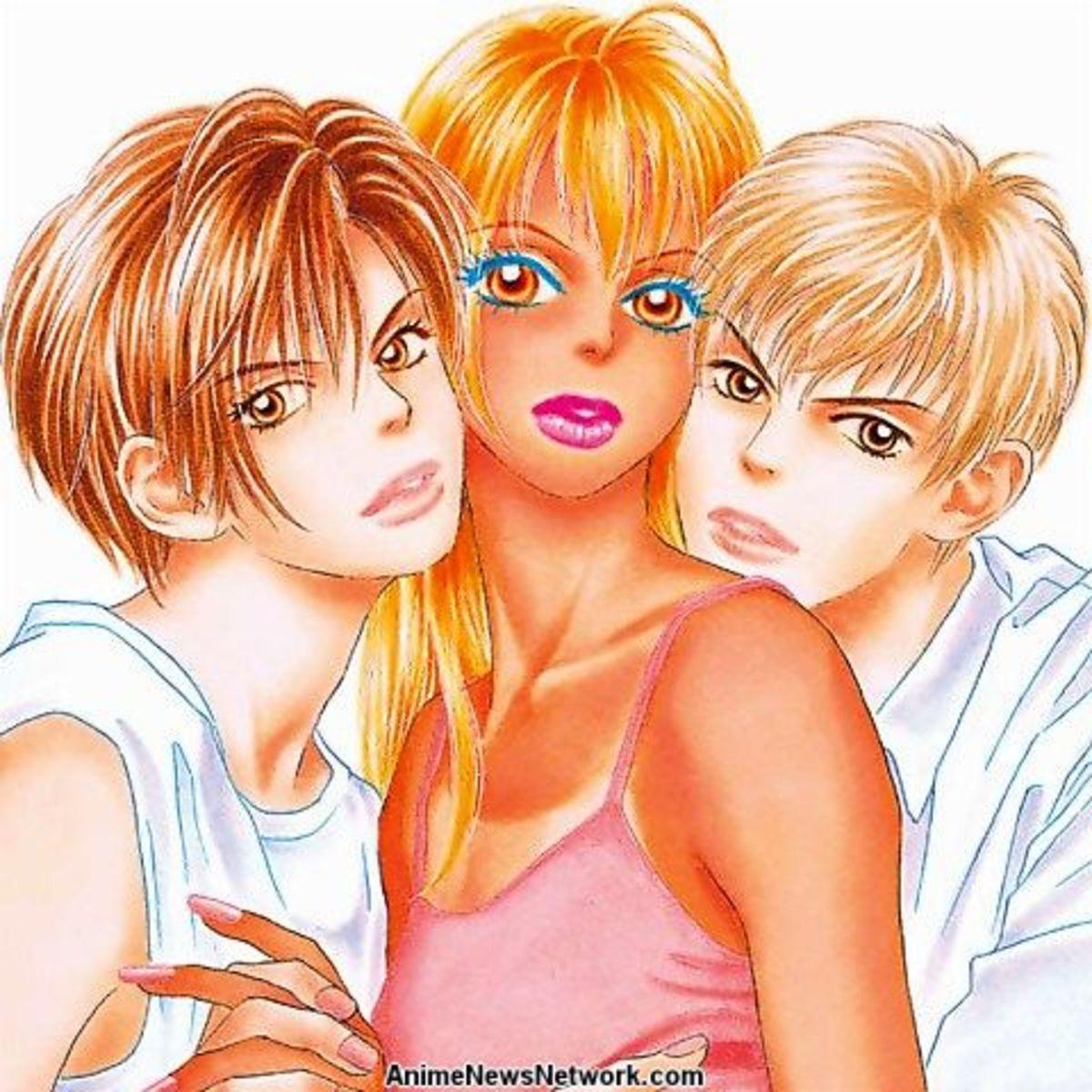 "Kairi, Momo, and Toji from ""Peach Girl."""
