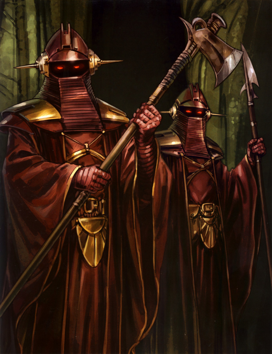 Pair of Imperial Sentinels standing guard at the Emperor's palace.