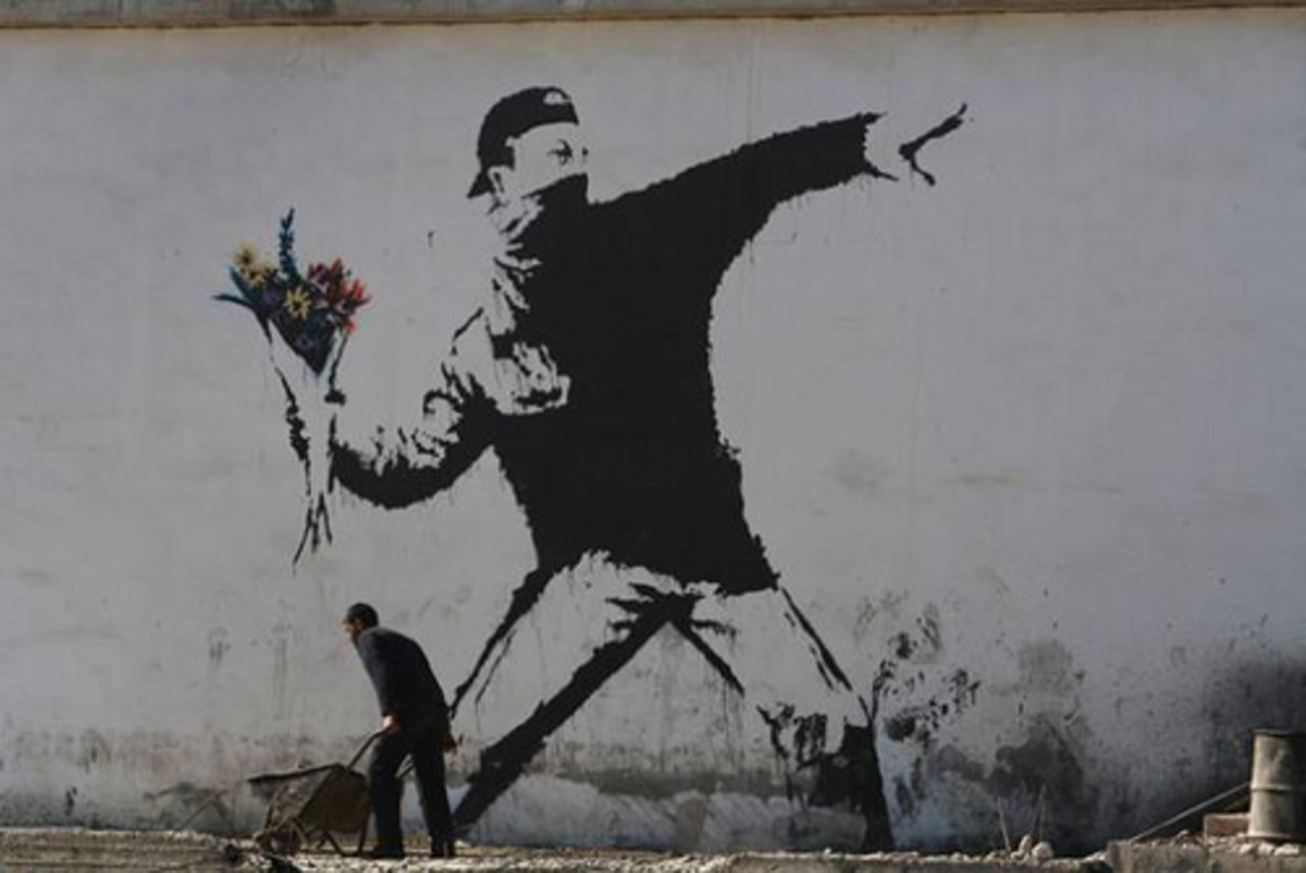The Flower Thrower by Banksy