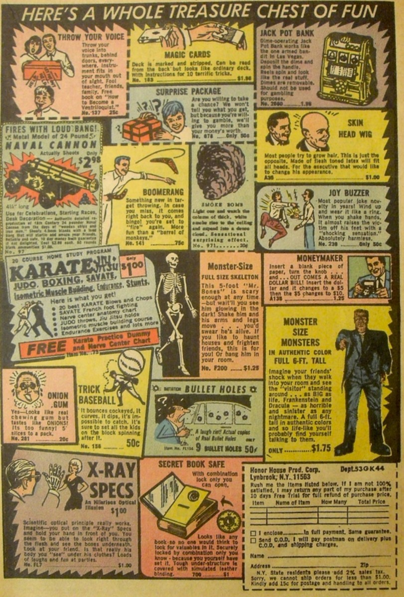 My Backlash With Comic Book Advertisements
