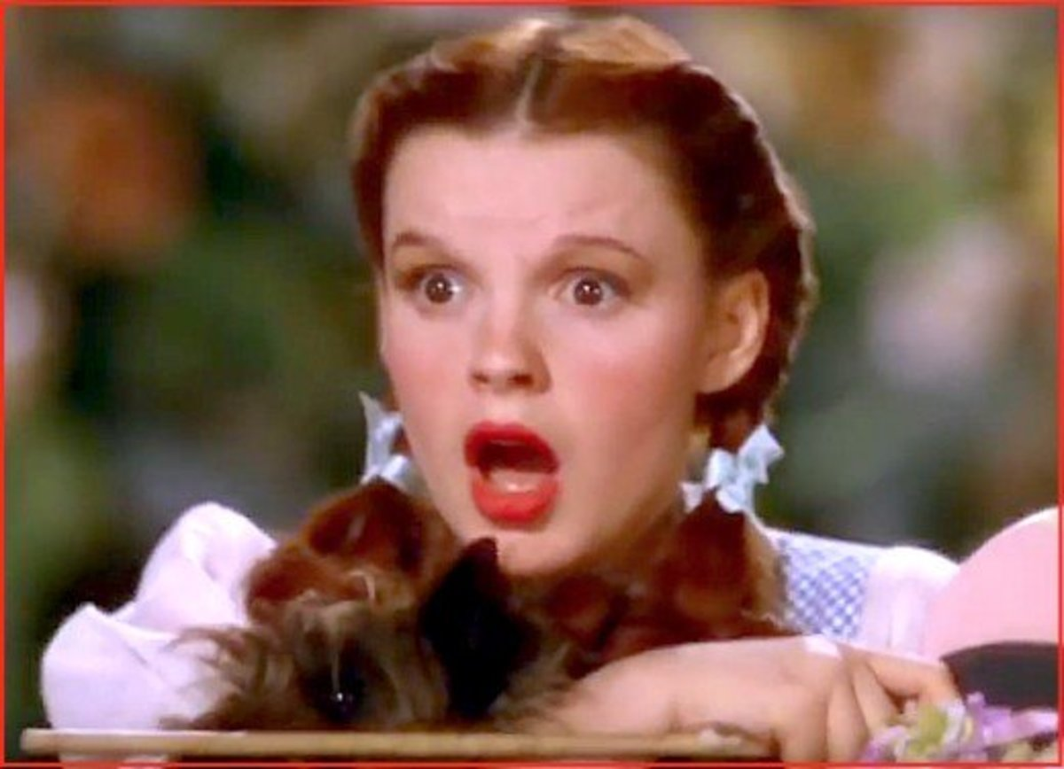 "In The Wizard of Oz movie, Judy Garland utters one of the most iconic phrases in cinematic history: ""Toto, I've a feeling we're not in Kansas anymore."""