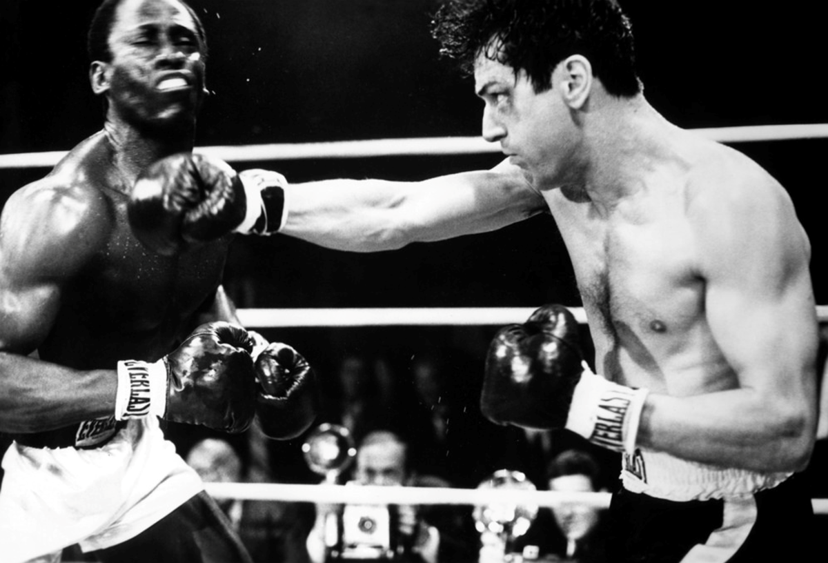 As a method actor, DeNiro committed to the role of playing real-life boxer, Jake LaMotta. He got in tip-top shape to play the young LaMotta and gained 60 pounds to play the older, out-of-shape LaMotta.