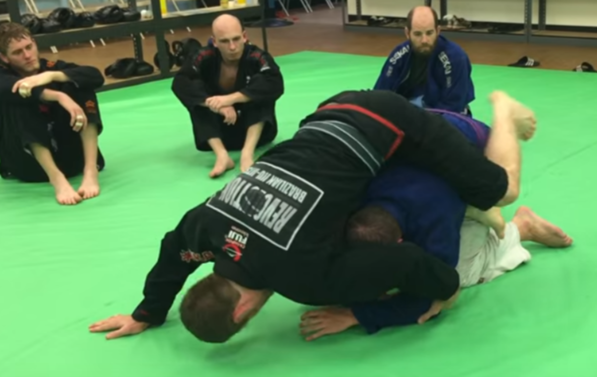 Sweeping to S-Mount in Brazilian Jiu-Jitsu