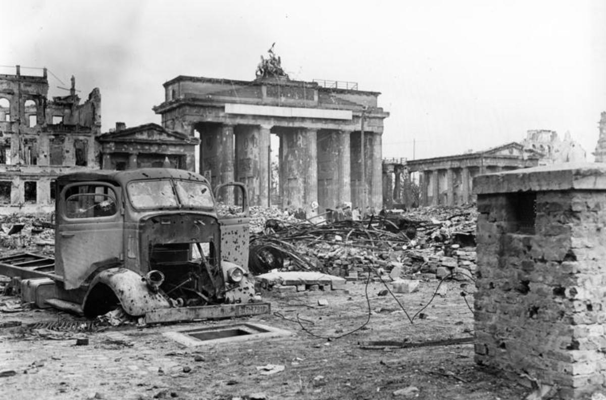 Brandenburg Gate April 1945.