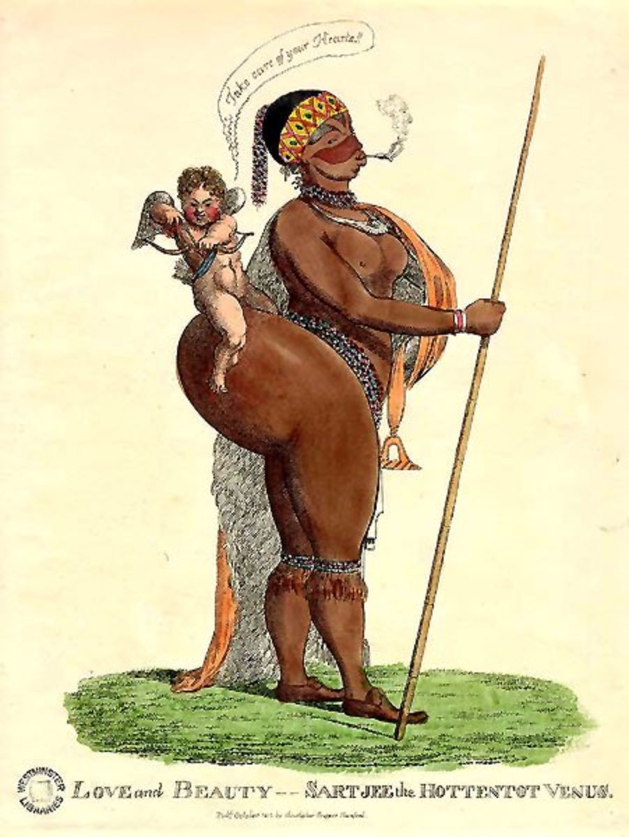 Sarah Baartman in caricature.