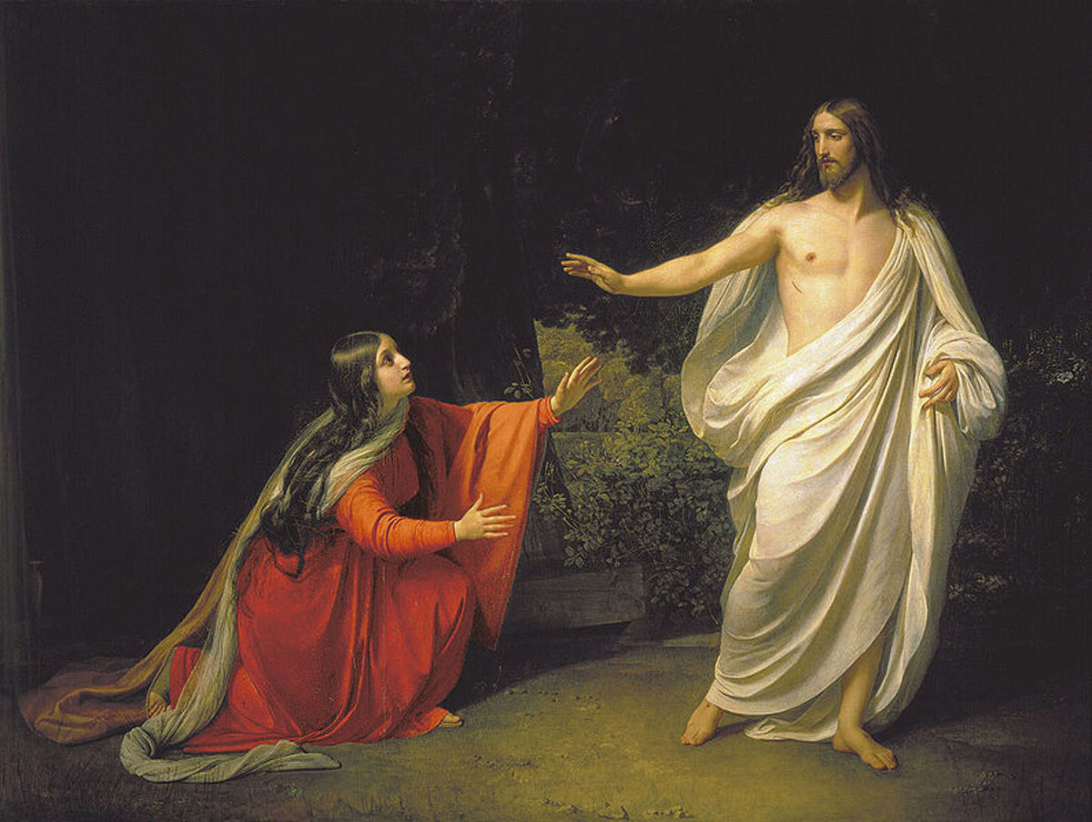 Appearance of Jesus Christ to Maria Magdalena by Alexander Andreyevich Ivanov (1806-1858).