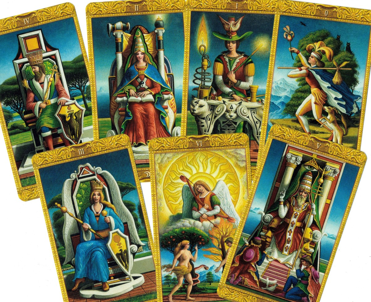 Major Arcana from the Mystical Tarot
