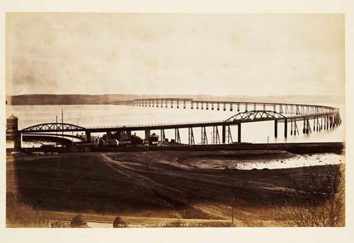 The Tay Bridge from the north.